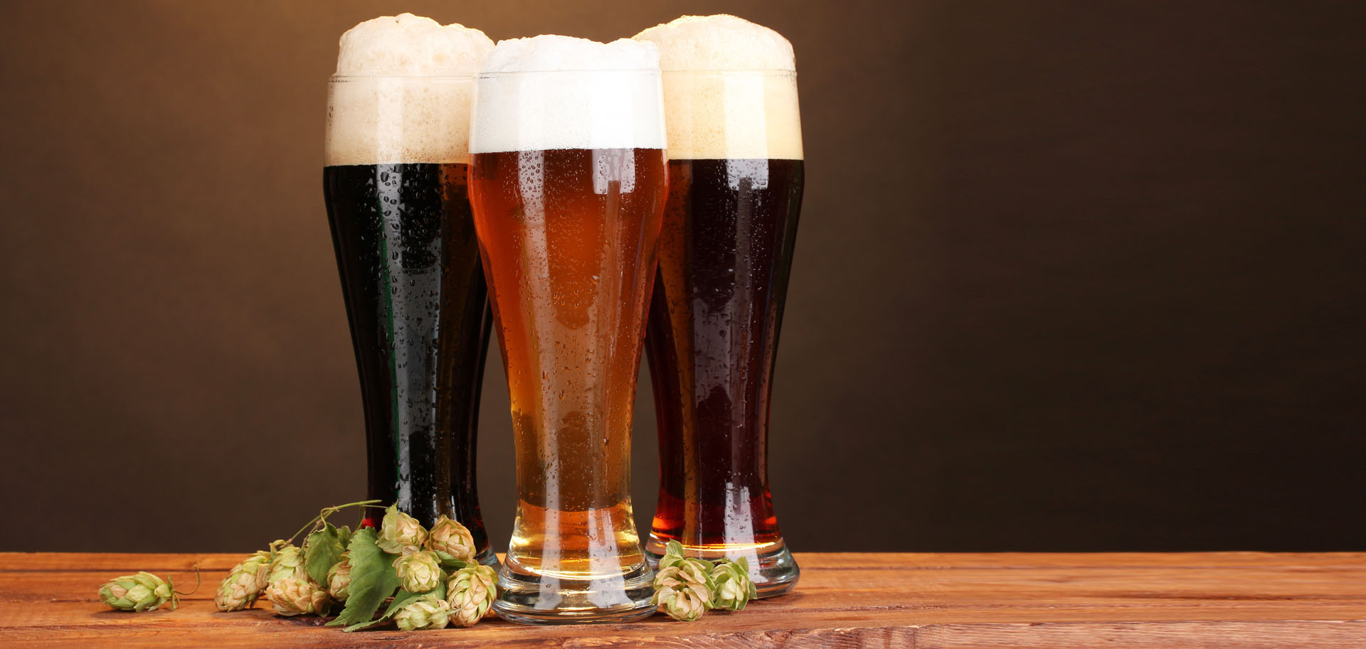 3 bicchieri di birra artigianale